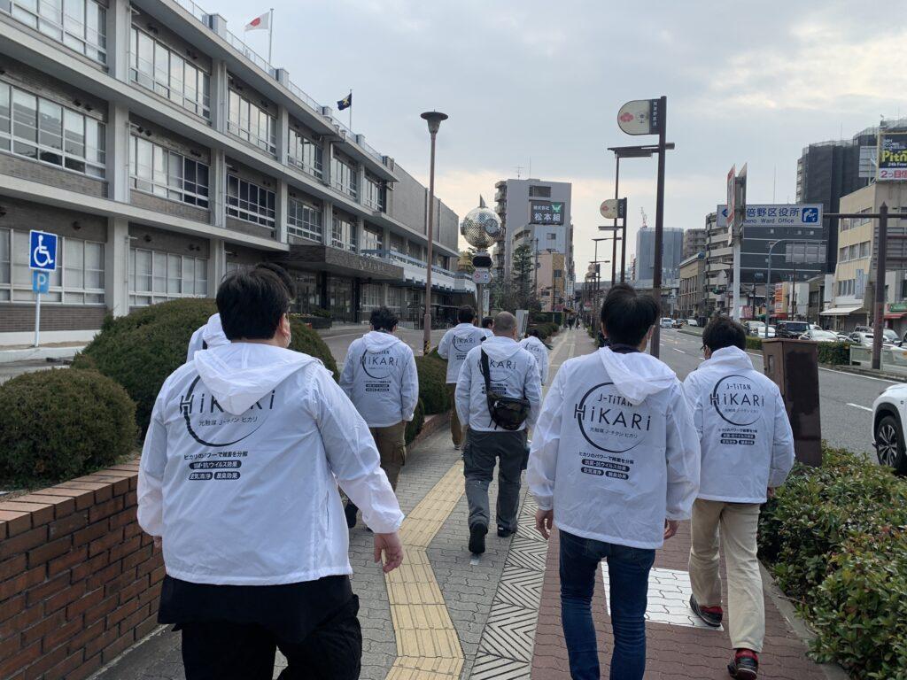 大阪市阿倍野区役所庁舎への施工完了