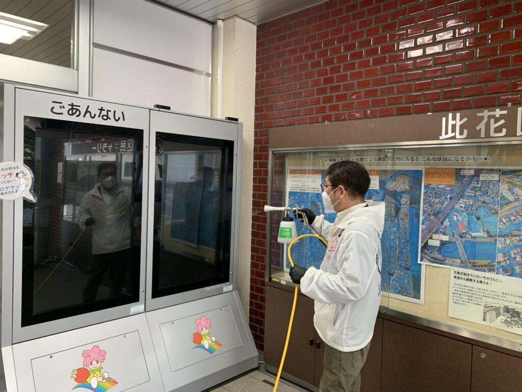 大阪市此花区役所庁舎施工風景03