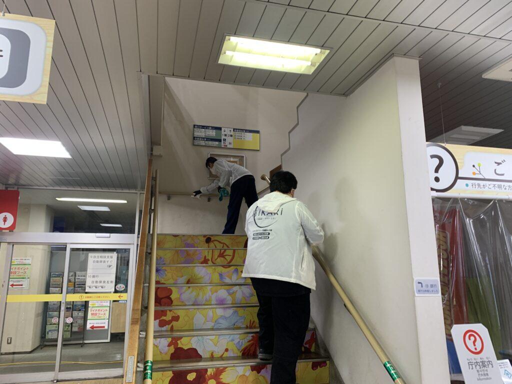 大阪市此花区役所庁舎施工風景10